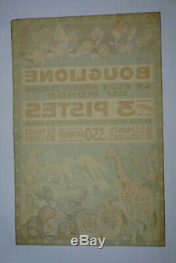 Affiche ancienne originale cirque BOUGLIONE, ANTIQUE CIRCUS POSTER