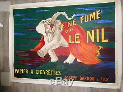 Affiche ancienne publicitaire originale 1912
