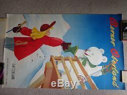 Affiche ancienne ski Suisse Berner Oberland 1950