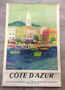 Affiche ancienne sncf cote d azur