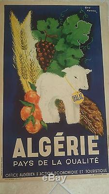 Affiche ancienne touristique algérie ofalac guy nouen 47, hydra alger
