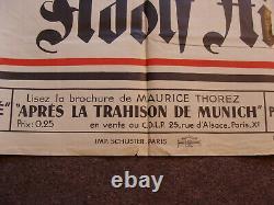 Affiche annonçant le dessein de la France par Hitler tiré de Mein Kampf