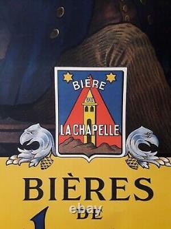 Affiche bière De LaChapelle 1920 (Ripart. G) originale, dimensions 66 x 100