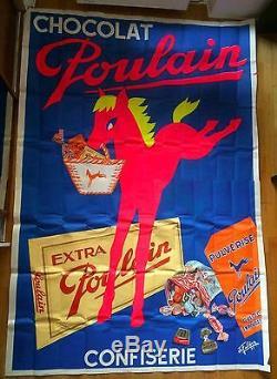 Affiche chocolat Poulain confiserie