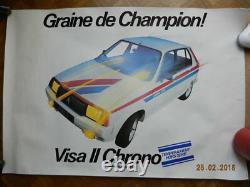 Affiche concessionnaire CITROEN VISA II CHRONO