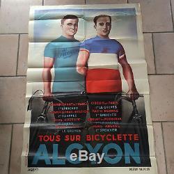 Affiche cycles Alcyon 75x116 excellent état de conservation datée années 1930
