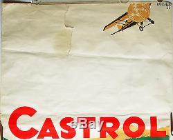 Affiche de 1932 pour les huiles automobiles Castrol par Linossier