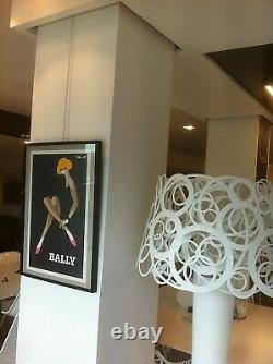 Affiche de Bernard. VILLEMOT BALLY Blonde ORIGINAL VINTAGE POSTER de 1979