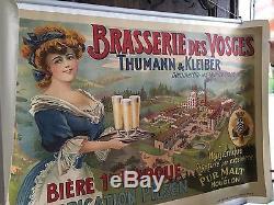 Affiche de bière BRASSERIE DES VOSGES THUMANN & KLEIBER Dommartin les Remiremont
