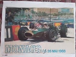 Affiche grand prix de monaco 1968