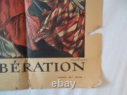 Affiche l'emprunt de la libération 1ère guerre mondiale (originale)