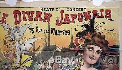 Affiche original Montmartre Le Divan Japonais Charles Bétout 1898