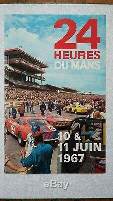 Affiche originale 24H du Mans 1967 (ACO)