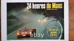 Affiche originale 24H du Mans 1971 (ACO)