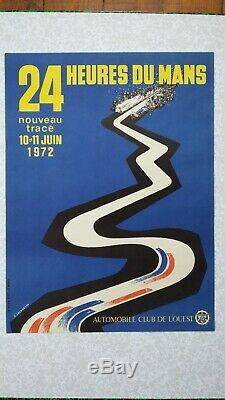 Affiche originale 24H du Mans 1972 (ACO)