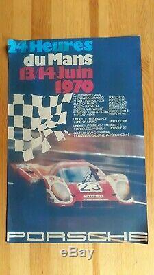 Affiche originale 24 heures du Mans 1970