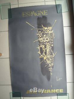 Affiche originale AIR FRANCE ESPAGNE par Georges Mathieu Circa 1967