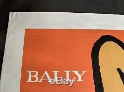 Affiche originale Bally Les jambes entoilée Bernard Villemot