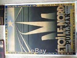 Affiche originale CASSANDRE Étoile du Nord 1927