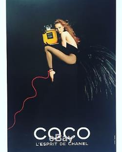 Affiche originale Coco Lesprit de Chanel, Vanessa Paradis 170 x 118 cm entoilée