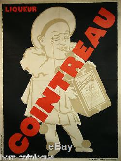 Affiche originale Cointreau, liqueur triple sec, Angers