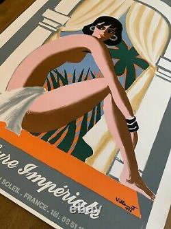 Affiche originale Eugénie les Bains Bernard VILLEMOT