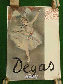 Affiche originale, Exposition DEGAS, Orangerie des Tuileries, Paris 1934