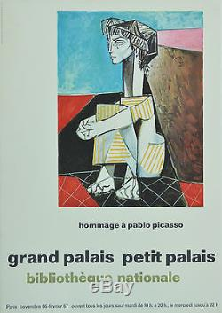 Affiche originale Hommage à PICASSO NOV 1966 à FEV 1967 Grand Palais