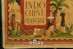 Affiche originale Indochine Siam Tonkin China 1949 Lucien BOUCHER Perceval rare