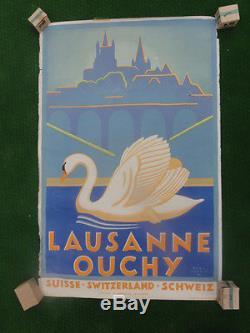 Affiche originale, LAUSANNE SUISSE
