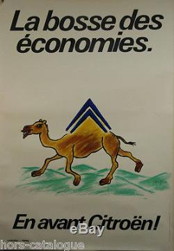 Affiche originale, La bosse des économies, En avant Citroën. Par Savignac 1981