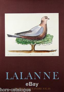 Affiche originale, Lalanne, Galerie Alexandre Iolas Paris 1974, oiseau