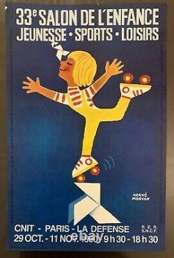 Affiche originale Salon de la jeunesse Hervé Morvan