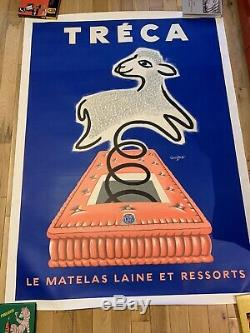 Affiche originale TRÉCA entoilée SAVIGNAC