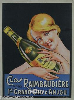Affiche originale, Vin Clos de la Raimbaudière, 1er Cru d'Anjou. Par Soares 1927