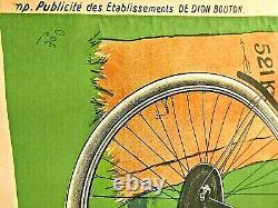 Affiche originale ancienne Cycles DE DION BOUTON