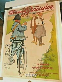 Affiche originale ancienne Cycles GLADIATOR