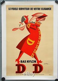 Affiche originale années 60 Entoilée DD par GAD 30 x 40 cm
