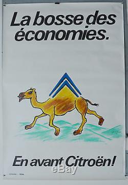 Affiche originale années 80 La bosse des économies CITROËN SAVIGNAC