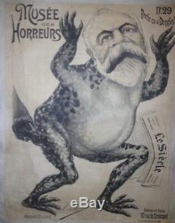 Affiche originale anti Dreyfus musée des horreurs Num29 par Lenepveu 1899 Litho