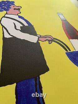 Affiche originale de 1993 par SAVIGNAC LE VIN NOUVEAU avant la lettre