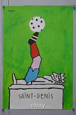 Affiche originale de 1998 ST DENIS  Coupe du monde Par Savignac