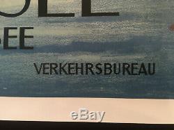 Affiche originale de tourisme pour la commune de FAULENSEE en Suisse (Années 50)