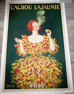 Affiche originale entoilée CAPPIELLO L. CACHOU LAJAUNIE