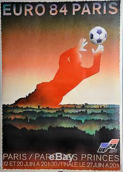 Affiche originale entoilée Euro 84 Paris 170 x 116 cm