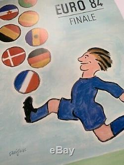 Affiche originale entoilée Euro 84 Savignac