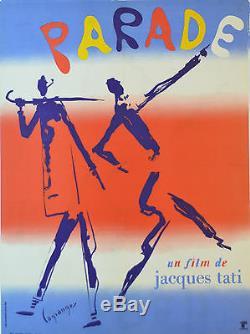 Affiche originale entoilée PARADE Jacques TATI Par LAGRANGE