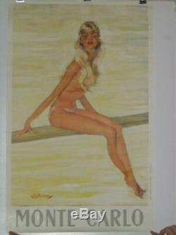 Affiche originale la femme au plongeoir de Jean Gabriel Domergue
