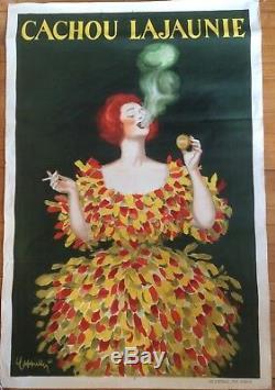 Affiche originale litho L. CAPPIELLO Cachou Lajaunie 1920 vintage poster