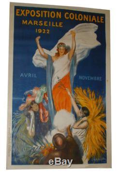 Affiche originale litho Leonetto CAPPIELLO expo coloniale Marseille 1922